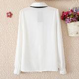 Chemise blanche de long de chemise de chemise vent Chiffon d'université pour Madame Shirt&#160 de femmes ;