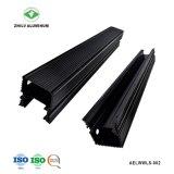 6063 Perfil de aluminio anodizado negro de LED para iluminación de paisaje