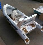 Barco inflável luxuoso do reforço do barco de borracha do barco rígido de Liya 6.6m