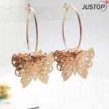 工場女性の女性のための模造金の宝石類の蝶シックなイヤリング
