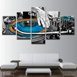 El marco moderno musical de los carteles de la sala de estar HD de los instrumentos del panel del cuadro 5 de la lona de arte de la pared de la pintura de la decoración del hogar modular imprimió