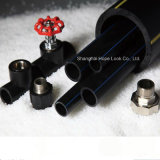 HDPE Rohr Preis gekostetes vollkommenes schwarzes Plastik-HDPE Wasser-Rohr
