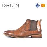 Les hommes de couleur brun noir Chelsea Boot Boot en cuir