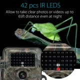 Камера ночного видения звероловства видеокамеры 12MP 1080P тропки CCTV ультракрасная водоустойчивая
