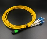 MPO de fibra óptica LC Duplex Cable de conexión de red de área local.