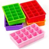 Molde colorido do chocolate da bandeja do cubo de gelo do silicone das cavidades do produto comestível 15 de Kithcenware do silicone