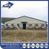 高品質のフルオートのプレハブの軽い鉄骨構造の養鶏場および家禽の家