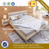 부유한 버찌 파티클 보드 백색 광택 있는 합판 침대 (HX-8NR0844)