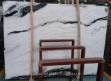La parete di marmo bianca delle mattonelle di pavimento del panda copre di tegoli il marmo bianco di lusso