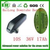 36V 17ah Hailong/celle per-Panasonic batteria di Downtube/del litio con il caricatore 2A