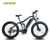 Bicicleta eléctrica 2017 del neumático gordo lleno de la suspensión con el motor de Bafang