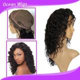 100% 인간 Virgin 중간 머리 길이 깊은 파면 레이스 가발
