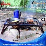Inoxidável portátil dobrável carvão churrasco grill fio churrascos