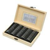 Estilo madera monedas mostrar cajas de almacenamiento de Caja Joyero