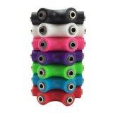 Оптовая торговля 6 способ 3,5 мм для наушников аудио Разветвитель для наушников аудио адаптер гарнитуры с вспомогательный кабель универсальной 7 цветов