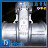 Didtek CF8mのステンレス鋼304のバット溶接電気駆動機構のゲート弁