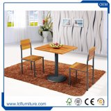 Garten-Möbel-Metallgarten-Stuhl-Bistro-Tisch-hölzernes Möbel-Set