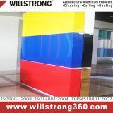 Panneau composé en aluminium rouge de corail pour le mur plaqué