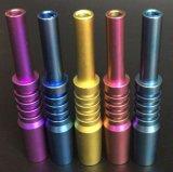 Commercio all'ingrosso 6 di Gldg in 1, un chiodo di titanio di 5 colori per il fumo di vetro del tubo di acqua