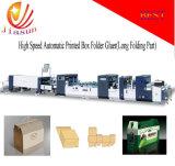 China-volles automatisches Faltblatt Gluer vier und Eckunterseiten-Maschine des verschluss-sechs