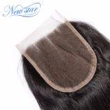 Nuovo merletto poco costoso all'ingrosso 5X5 i capelli diritti cinesi delle 3 chiusure della parte