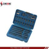 Ferramenta Mão 100 PCS Bits de chave de fenda chave de roquete recarregável definido