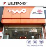 2000mm de ancho del Panel Compuesto de Aluminio y de oficina tienda de decoración de interiores