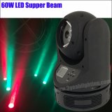 Équipement de scène LED Super 60W du faisceau de lumière de la tête mobile DJ
