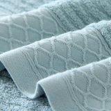 柔らかい手感じ100%Cottonはセットされる染められたドビーの浴室タオルを嘆く(02Y0012)