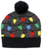 L'hiver fait sur commande Milou de chapeau de femmes allume la toque tricotée rouge de Beanie de Santa