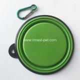 Bol d'aliments pour chiens de silicones de qualité et de course d'eau