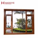 Il blocco per grafici di alluminio del grano di legno di resistenza alle intemperie Inclinare-Gira la finestra