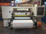 Autocollant automatique de papier d'étiquette du rouleau de film trancheuse rembobineur Machine