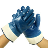 Poids lourd en nitrile Brassard entièrement recouvertes de la sécurité industrielle des gants à main