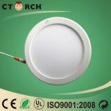 Factory Direct Vente chaude 170mm 12W rond plat LED de ménage commerciale
