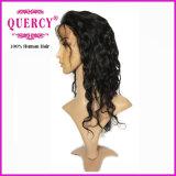 최신 판매 100% 브라질 인간적인 Virgin 머리 18inch 바디 파 Full&Lace 정면 가발 자연적인 색깔 좋은 품질 머리 가발