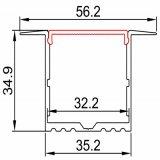 Het Profiel van de Uitdrijving van het aluminium voor het Vloeren Decoratieve Verlichting