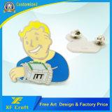 precio de fábrica de Estampado de Metal personalizados Níquel Soft enamel Badge con cualquier diseño (XF-BG47)