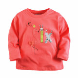 秋の幼児の男の子の女の子の長い袖の100%年の綿のTシャツの上のティーのサイズ3-8年