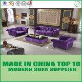 BRITISCHE Art-Möbel-klassische Tasten-büscheliges Gewebe-Sofa
