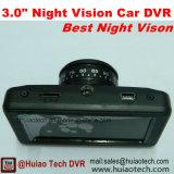 2017 rectángulo negro del mejor coche de la visión nocturna 3.0inch con la cámara DVR-3014 de la rociada 2.0mega