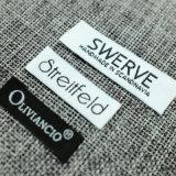 Etiqueta de tecido personalizada de fábrica de têxteis para o lar