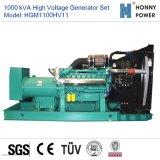 1000kVA Groupe électrogène haute tension 10-11 kv avec moteur Googol 50Hz