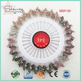 Bello Pin a cristallo lucido casuale 55m di Hijab della testa della farfalla di Pin del Brooch