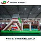 Château sautant de dessin animé gonflable neuf de jouet avec la glissière