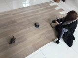 Cimentado & o fio escovou o revestimento projetado do carvalho prancha larga cinzenta escura