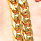18K collier cubain Mjcn044 de chaîne de tige d'acier inoxydable de l'or 316L