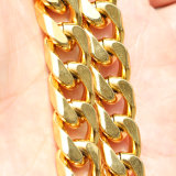 Oro de 18K de acero inoxidable 316L Cuban Link Mjcn Collar de cadena044