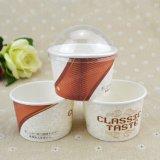 熱い販売の安い価格の習慣によって印刷される使い捨て可能なペーパーアイスクリームのコップ