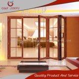 Puertas de plegamiento de aluminio del color de la puerta de cristal doble de aluminio de madera del patio